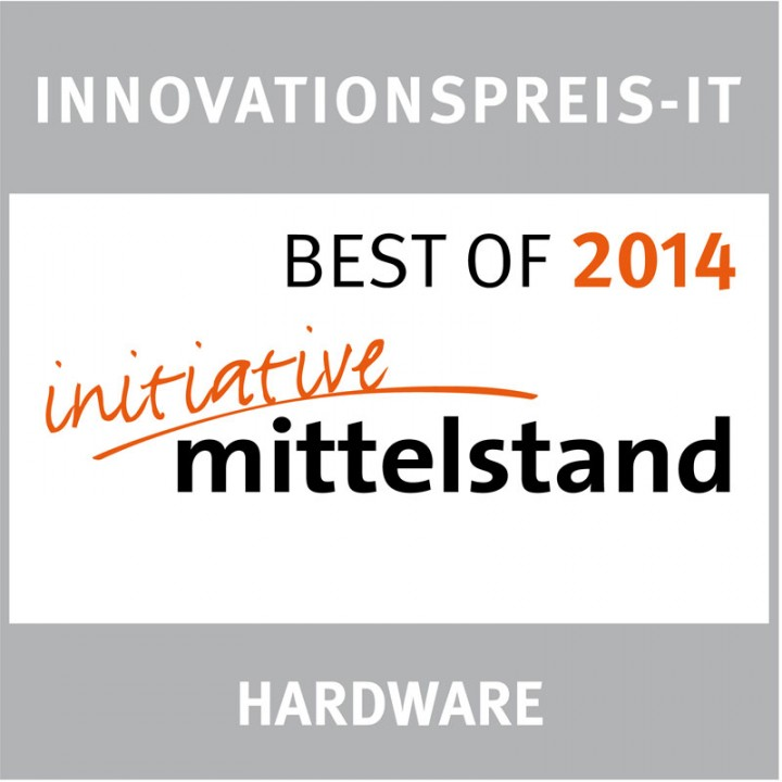 Recognized with the INNOVATIONSPREIS – IT by the Mittelstand 2014 initiative